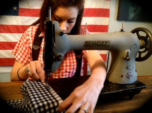 "Danielle working on the ""James Garfield"", available on our etsy site"